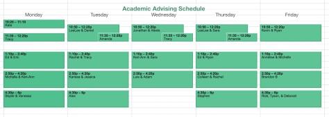 AA Schedule 2017